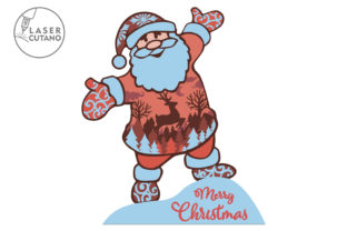 Print on Demand: CHRISTMAS Multilayer Laser Cut Files Graphic 3D SVG By LaserCutano 3