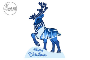Print on Demand: CHRISTMAS Multilayer Laser Cut Files Graphic 3D SVG By LaserCutano 4