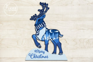 Print on Demand: CHRISTMAS Multilayer Laser Cut Files Graphic 3D SVG By LaserCutano 6