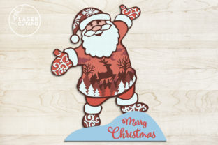 Print on Demand: CHRISTMAS Multilayer Laser Cut Files Graphic 3D SVG By LaserCutano 7