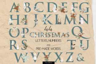 Print on Demand: Christmas Alphabet Graphic Illustrations By HappyWatercolorShop