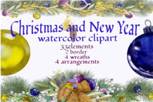 Print on Demand: Christmas Arrangements Clipart, New Year Graphic Illustrations By Marine Universe