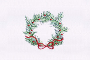Christmas Wreath Christmas Embroidery Design By StitchersCorp