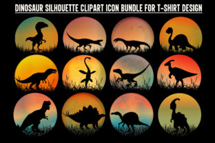 Print on Demand: Dinosaur Silhouette Graphic Crafts By T-Shirt Tees