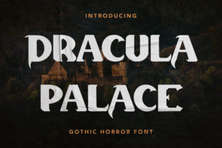 Print on Demand: Dracula Palace Display Font By Arendxstudio