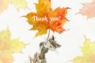 Print on Demand: Fall Autumn Animals Clipart, Cute PNG Graphic Illustrations By CherrypearStudio 5
