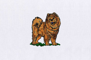 Fluffy Brown Dog Dogs Embroidery Design By StitchersCorp