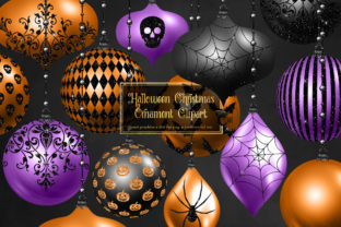 Print on Demand: Halloween Christmas Ornament Clipart Graphic Illustrations By Digital Curio
