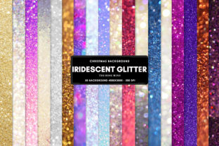 Print on Demand: Iridescent Glitter Christmas Graphic Backgrounds By The Rose Mind
