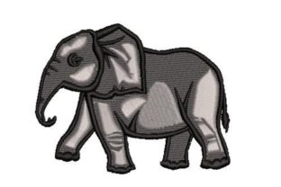 Layered Elephant Wild Animals Embroidery Design By Embroidery Designs