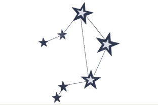 Libra Constellation Sign Inspirational Embroidery Design By ArtDigitalEmbroidery