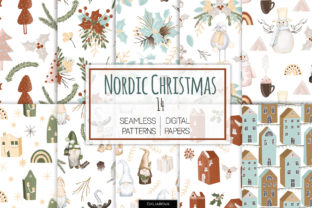 Nordic Christmas Seamless Patterns Graphic Patterns By HappyWatercolorShop