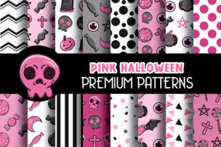 Print on Demand: Pink Halloween Digital Papers Patterns Graphic Patterns By Grafixeo