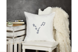 Pisces Constellation Sign Inspirational Embroidery Design By ArtDigitalEmbroidery 3