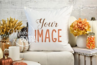 Pretty Fall Home Decor Mockup Pillow Graphic Product Mockups By Mockup Central