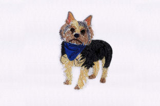 Terrier Dog Dogs Embroidery Design By StitchersCorp
