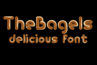 Print on Demand: The Bagels Color Fonts Font By murisa.studio
