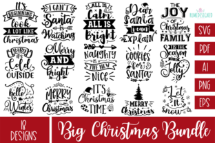 The Huge Christmas Svg Bundle Graphic Crafts By Rumi Designed 18