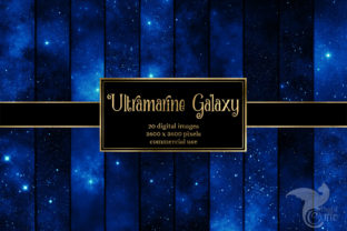 Print on Demand: Ultramarine Galaxy Backgrounds Graphic Textures By Digital Curio 1