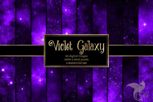 Print on Demand: Violet Galaxy Digital Paper Graphic Textures By Digital Curio
