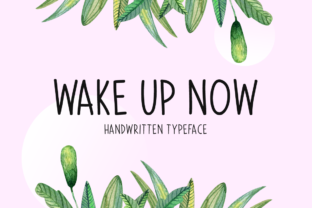 Print on Demand: Wake Up Now Script & Handwritten Font By Seemly Fonts 1
