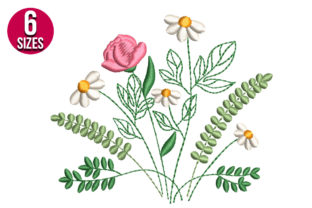 Print on Demand: Wildflower Bouquets & Bunches Embroidery Design By Nations Embroidery