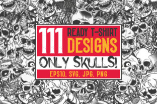 111 T-shirt Designs. Only Skulls! Graphic Illustrations By Vozzy Vintage Fonts And Graphics