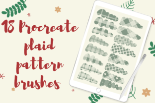 18 Procreate Plaid Pattern Brushes Graphic Brushes By Temtemdesign