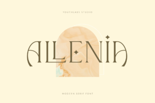 Print on Demand: Allenia Serif Font By youthlabs