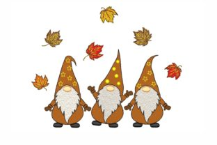 Autumn Gnomes Autumn Embroidery Design By NinoEmbroidery