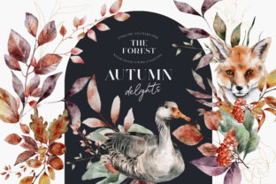 Print on Demand: Autumn Watercolor Arrangements PNG Graphic Illustrations By Busy May Studio