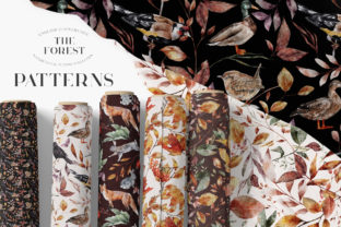 Print on Demand: Autumn Watercolor Seamless Patterns JPEG Graphic Patterns By Busy May Studio