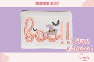 Boo Hat Halloween Embroidery Design By carasembor