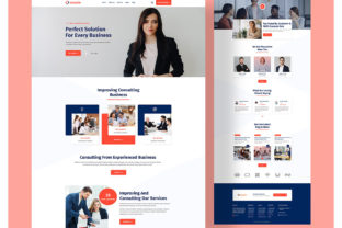Business Consultant Landing Page Graphic Landing Page Templates By ordainit0