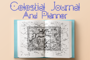 Print on Demand: Celestial Journal and Planner Graphic KDP Interiors By Mary's Designs 1