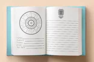 Print on Demand: Celestial Journal and Planner Graphic KDP Interiors By Mary's Designs 2