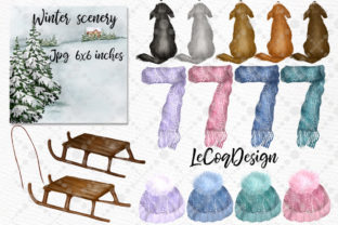 Print on Demand: Christmas Family Clipart Winter Family Graphic Illustrations By LeCoqDesign 4