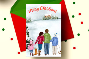 Print on Demand: Christmas Family Clipart Winter Family Graphic Illustrations By LeCoqDesign 5