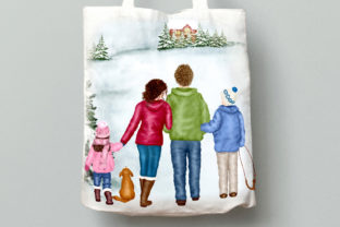 Print on Demand: Christmas Family Clipart Winter Family Graphic Illustrations By LeCoqDesign 8