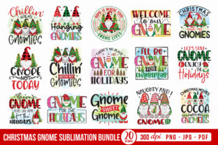 Christmas Gnome Sublimation Bundle Graphic Crafts By CraftlabSVG