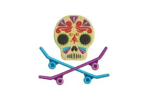 Day of the Dead Mask Holidays & Celebrations Embroidery Design By Embroidery Designs