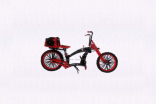 Exquisite Red Bicycle Sports Embroidery Design By StitchersCorp