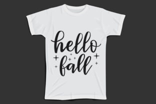 Fall Svg Design, Hello Fall Graphic Print Templates By Mb Designer