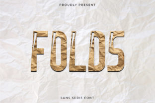 Print on Demand: Folds Display Font By CalligraphyFonts 1