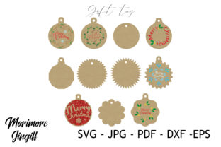 Print on Demand: Gift Tag Template SVG Graphic 3D SVG By morimorejingiff