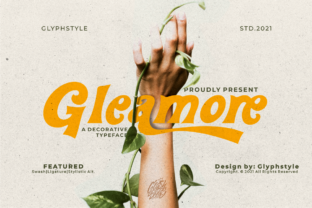 Print on Demand: Gleamore Display Font By glyphstyle 1