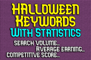 Print on Demand: Halloween Keywords with Statistics Graphic KDP Interiors By Mary's Designs