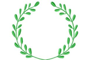 Laurel Frame Floral Wreaths Embroidery Design By Thread Treasures Embroidery