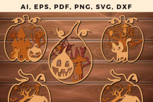 Print on Demand: PUMPKIN Halloween Multi Layer Cut Bundle Graphic 3D SVG By NGISED