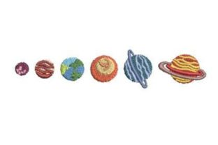 Planets Robots & Space Embroidery Design By Embroidery Designs